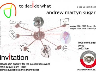 the invitation to the pop up exhibition