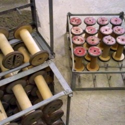 bobbins with painted ends