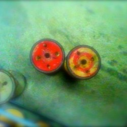 two red bobbins