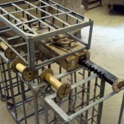 arrangement of bobbin frames