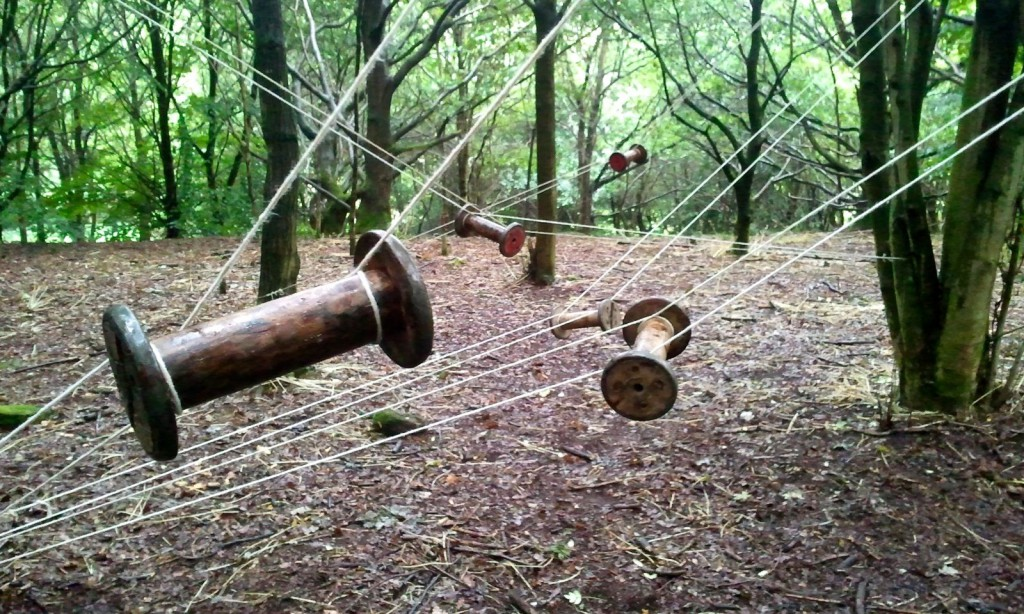 detail of bobbin installation in belper parks